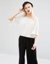 Monki Pom Pom Trim Swing Top