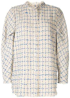Irene mole fur tweed shirt jacket