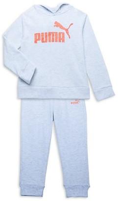 Puma Little Girl's 2-Piece Cotton-Blend Hoodie & Pants Set