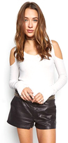 Michael Lauren Ramiro Open Shoulder Top in White