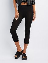 Charlotte Russe Stretch Cotton Cropped Leggings