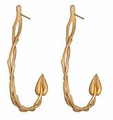 Agrigento Designs Leaf Loop Earrings in Gold