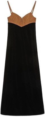 Gucci Long velvet dress with bustier