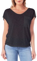 Michael Stars Soft V-Neck Pocket Tee