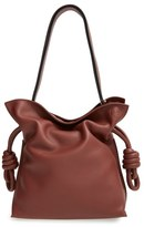 Loewe 'Small Flamenco Knot' Calfskin Leather Bag - Brown