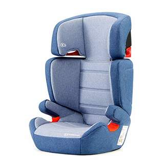 Kurt Geiger Kinderkraft Car Seat Junior FIX, Booster Child Seat, with Isofix, Adjustable Headrest, for Toddlers, Infant, Group 2/3, 15-36 Kg, Up to 12 Years, Safety Certificate ECE R44/04, Gray