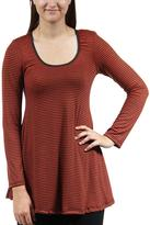 24/7 Comfort Apparel Striped Printed Tunic