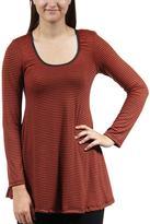 24/7 Comfort Apparel Striped Printed Tunic