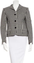 Chloé Wool-Blend Checked Jacket w/ Tags