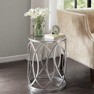 Madison Home USA Coen Metal Eyelet Accent Drum Table