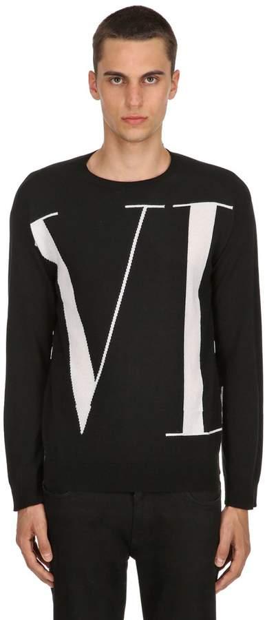 Valentino Vltn Logo Cashmere Knit Sweater