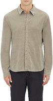 James Perse Men's Cotton Moleskin Shirt-TAN
