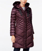 T Tahari Hooded Ruched Puffer Coat