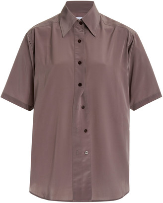 Eftychia Crepe Button-Down Shirt