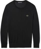 Dolce & Gabbana Appliquéd Cashmere Sweater