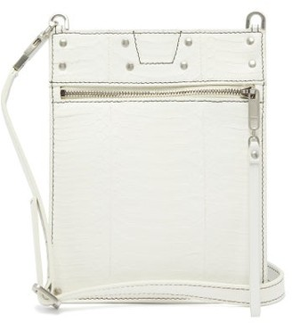 Rick Owens Glossed Snakeskin Cross-body Pouch - White
