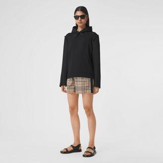 Burberry Side Stripe Vintage Check Stretch Cotton Shorts