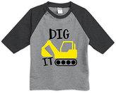 Urban Smalls Heather Gray & Charcoal 'Dig It' Raglan Tee - Toddler & Boys