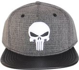 Bioworld Men's Licensed Punisher - PU Leather Brim Snapback Hat O/S