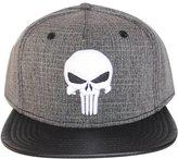 Bioworld Men's Licensed Punisher - PU Leather Brim Snapback Hat O/S