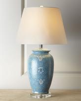 """Horchow Blue """"Mosaic"""" Lamp"""