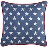 Pier 1 Imports Stars Embroidered Denim Pillow