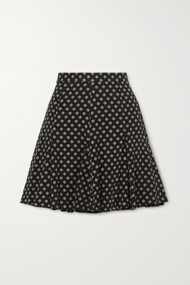MICHAEL Michael Kors Printed Twill Mini Skirt - Black