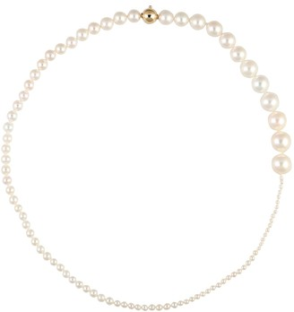 Sophie Bille Brahe Peggy Collier 14kt gold and pearl necklace