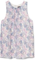 Vince Camuto Floral-print Sleeveless Blouse