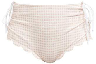 Marysia Swim Palm Springs Scallop-edged Bikini Briefs - Womens - Light Pink