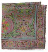 Ralph Lauren Floral Printed Silk Pocket Square