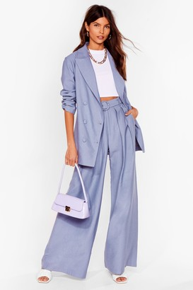 Nasty Gal Womens Business as Usual Suit Trousers - Denim-Blue