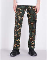 Palm Angels Camouflage Cotton Jogging Bottoms