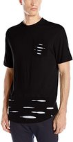 Southpole Men's Short Sleeve Cut and Sewn Ripped Scallop T-Shirt