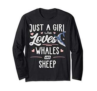 Just A Girl Who Loves Whales And Sheep Gift Women Long Sleeve T-Shirt
