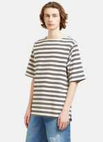 Acne Studios Men's Nimes Striped T-shirt In Off-white And Black
