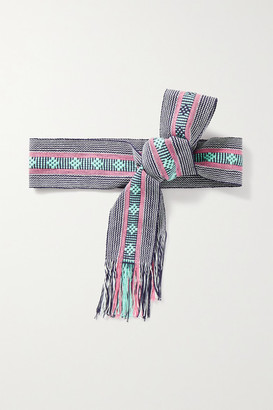 Pippa Woven Cotton Belt - Purple