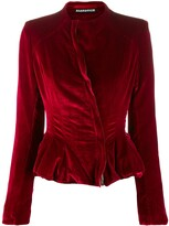aganovich fitted peplum jacket