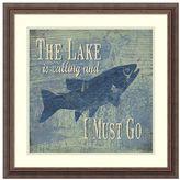 Amanti art The Lake Fishing Framed Wall Art