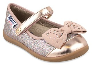 Naturino Little Girl's Girl's Glitter Metallic Bow Mary Janes