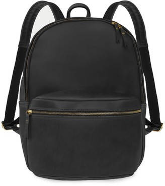 Vida Vida Luxe Mens Black Leather Backpack