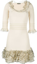 Alexander McQueen ruffled knit mini dress - women - Silk/Polyester/Viscose - M