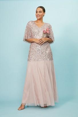 Coast Curve Sequin Angel Sleeve Maxi Dress