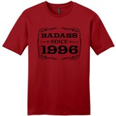 21st Birthday Party Supplies 21st Birthday Gifts For All Badass Since 1996 Young Mens T-Shirt ClRed