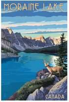 Art.com Banff, Alberta, Canada - Moraine Lake Art Print By Lantern Press - 61x91 cm
