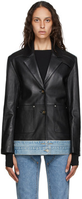 ANDERSSON BELL Black Leather Molly Jacket