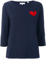 Chinti and Parker heart embroidered top
