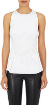 The Row Women's Tallo Poplin Lace-Up Top-WHITE
