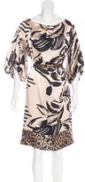 John Galliano Silk Printed Dress