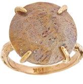 Raw Jewelry by JLRicci Round Agatized Palm Cocktail Ring